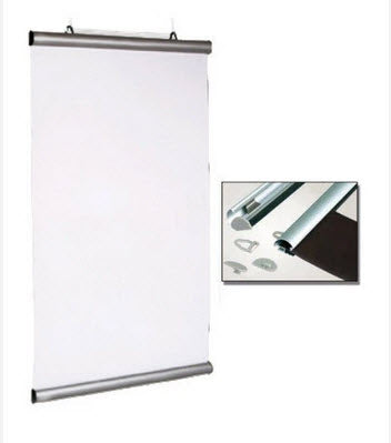 AO Portrait Poster Hanging Snap Rail Kit 850mm