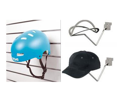 Slatwall Hat / Helmet Holder