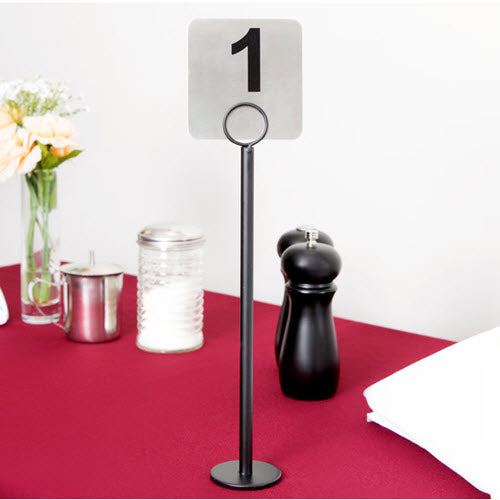 Table Card Holder Black 6""