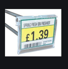 Price Prong PVC Clear Ticket Holder 50mm x 26mm Pack of 25