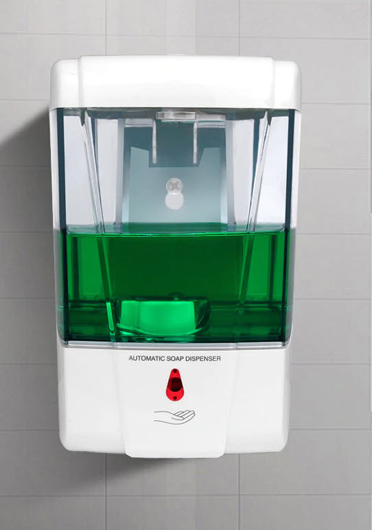 Freestanding Automatic Hand Sanitizer Dispenser with A5 Sign Holder.