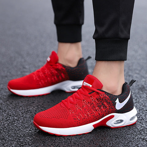 2019 Summer New Shoes Men's Running Shoes Student Casual Trend Wear Sports Shoes Breathable Mesh Men's Running Shoes