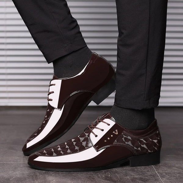 SAGACE Leather Shoes Men Breathable Formal Dress Shoes Luxury Business Oxford Male Office Wedding Flats Footwear Mocassin Homme