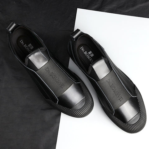 2019 new men's shoes leather lightweight casual shoes Loafers low to help the trend personality handsome and comfortable 38-44