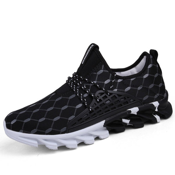 Man Running Shoes Plus Size Mesh Men Sport Shoes Lac-up Men Shoes Lightweight Comfortable Breathable Walking Sneakers 2019 New