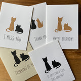 Pack of five CAT cards