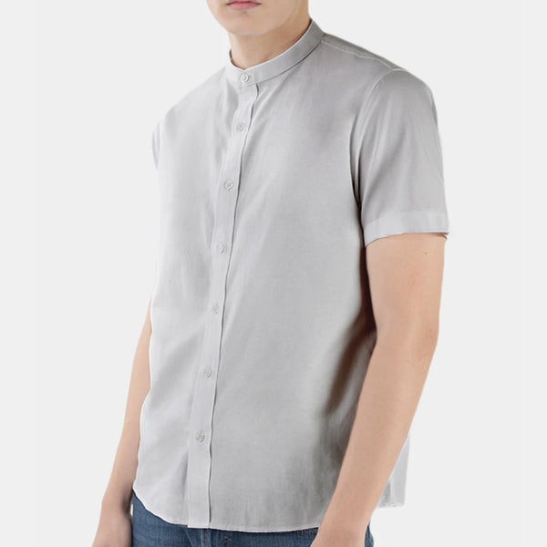 Buttondown - Mandarin Collar