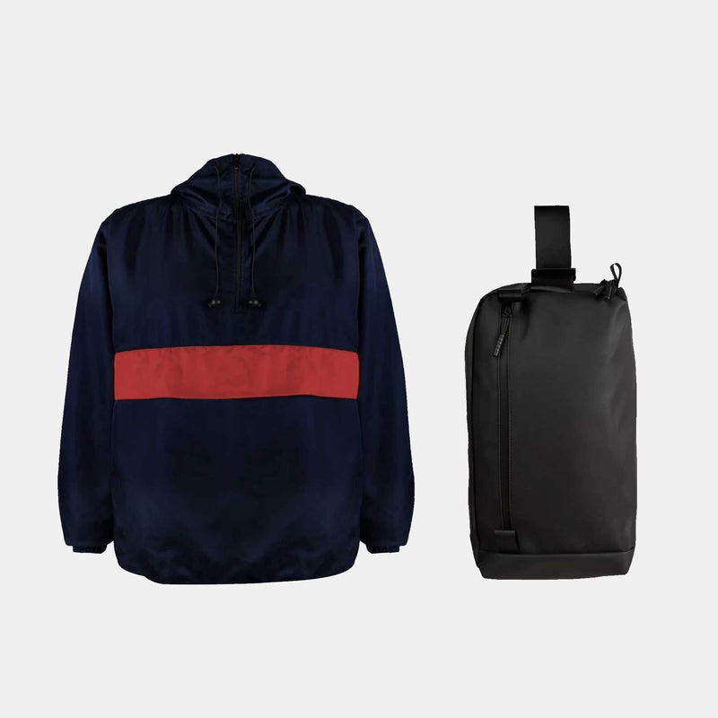 Custom Windbreaker + Commuter Bag
