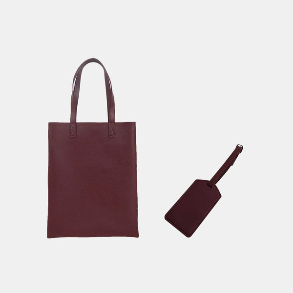 Custom Leather Portrait Tote Bag + Luggage Tag