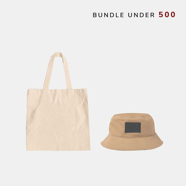 Custom Canvas Tote Bag + Bucket Hat