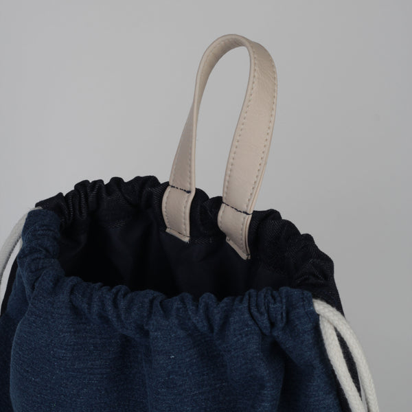 Custom Denim Drawstring Bag
