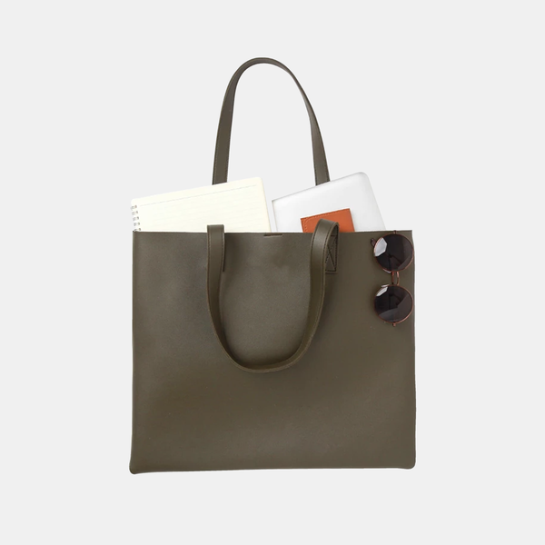 custom leather tote bag