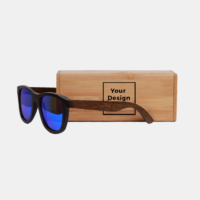Custom Bamboo Sunglasses with Case