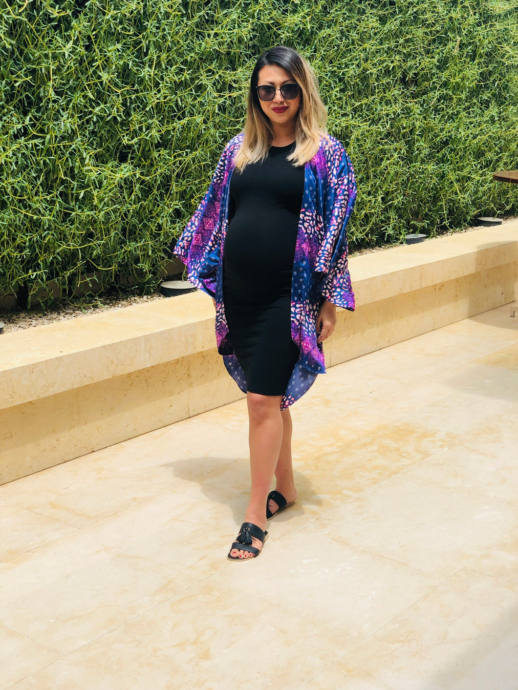 Khloe Kimono in Mix Pink Leopard