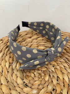 Headband in Grey Spot