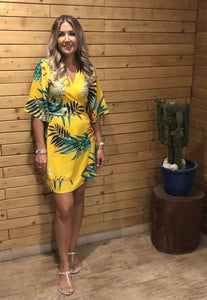 Frankie Dress in Yellow Jungle