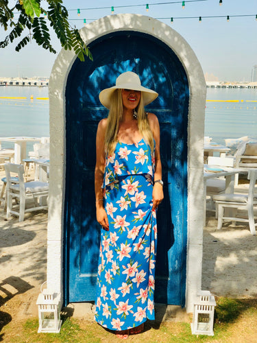 Heidi Maxi Dress in Big Bold Flower