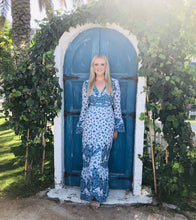Load image into Gallery viewer, Sienna Maxi Dress in Blue Floral