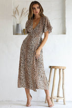 Load image into Gallery viewer, Billie Midi Dress in Leopard