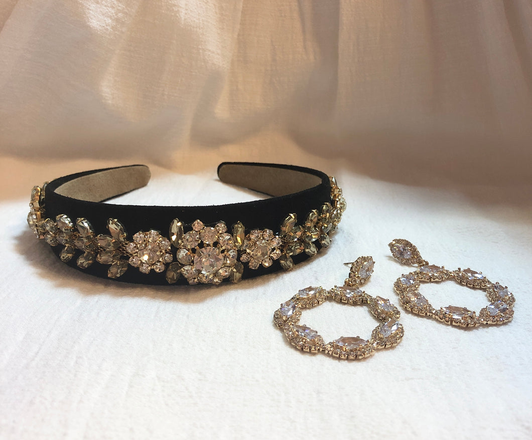 Headband in Black Tiara
