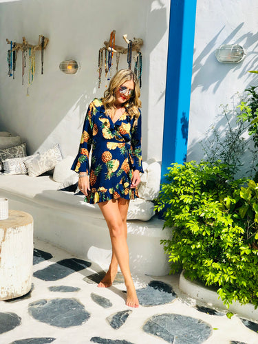 Fifi Dress in Navy Pineapple