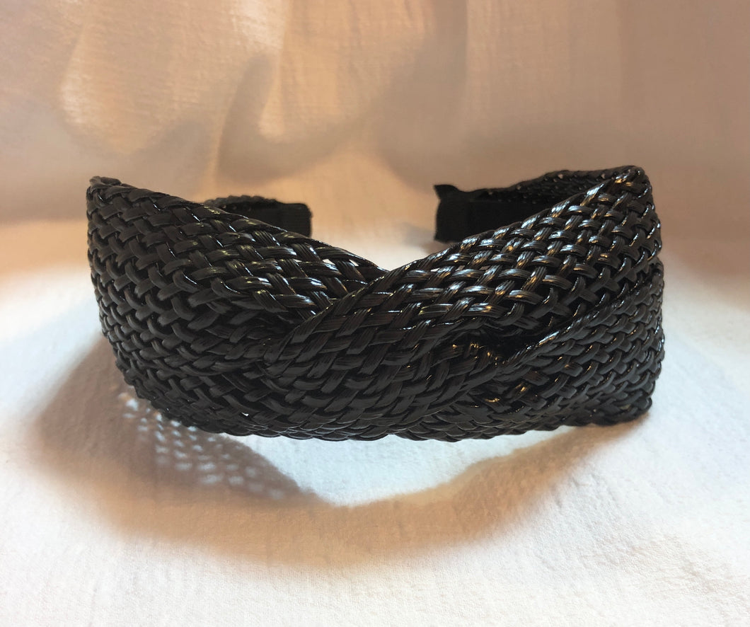 Headband in Woven Black