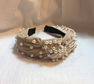 Headband in Cream Pearl
