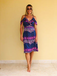 Libby Dress in Mixed Pink Leopard