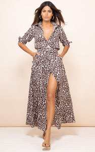 Dove Dress in Bare Leopard