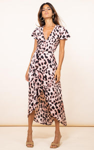 Cayenne Dress in Blush Leopard