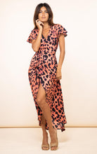 Load image into Gallery viewer, Cayenne Dress in Plorange Leopard