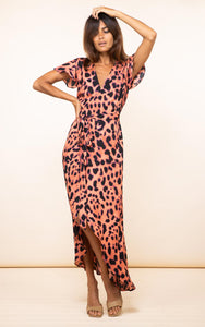 Cayenne Dress in Plorange Leopard