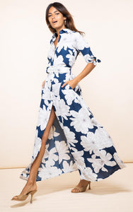 Dove Dress in Navy Bloom
