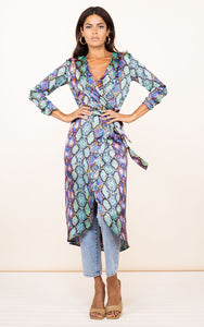Yondal Dress in Multi Snake
