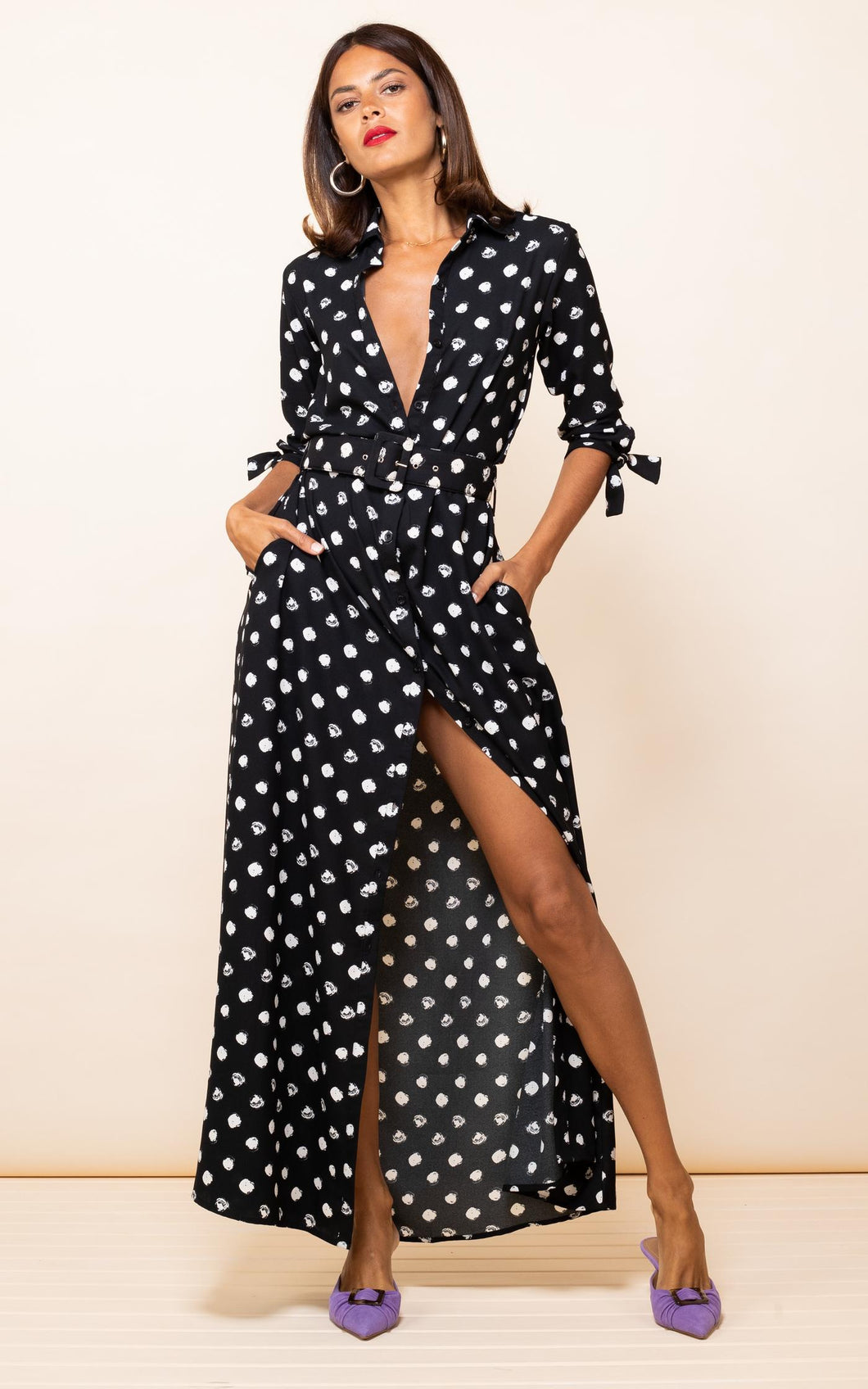 Dove Dress in Painted Dot