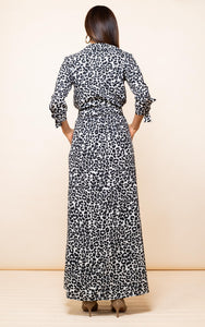 Dove Dress in Mono Leopard