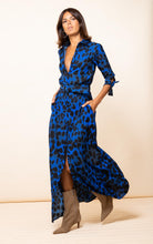 Load image into Gallery viewer, Dove Dress in Blue Leopard