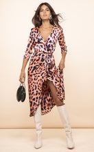 Load image into Gallery viewer, Yondal Dress in Plorange Leopard