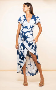 Cayenne Dress in Navy Bloom