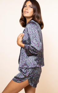 Oonah Shortie Pyjama Set in Ditzy Multi Leopard