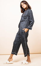 Load image into Gallery viewer, Enya Pyjama Set in Black Dotty