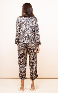Enya Pyjama Set in Rich Leopard