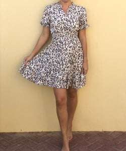 Verena Dress in Leopard