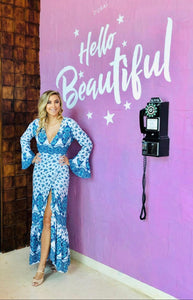 Sienna Maxi Dress in Blue Floral