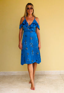 Libby Dress in Blue Birdie
