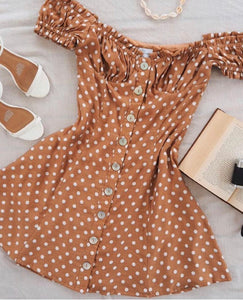 Julia Dress in Rust Spot