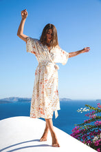 Load image into Gallery viewer, Sienna Wrap Gown in Sunset Bloom