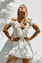Load image into Gallery viewer, Mallorca Luxe Mini Sundress in Seashell White