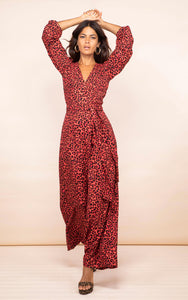Mossie Jumpsuit in Ruby Red Leopard