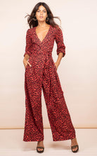 Load image into Gallery viewer, Mossie Jumpsuit in Ruby Red Leopard